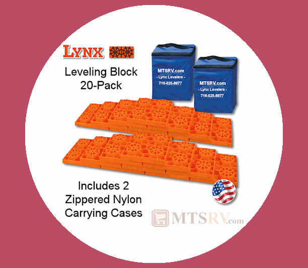 MTSRV Lynx's 20 Pack Leveling Blocks